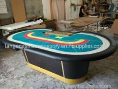 Fireproof Casino Baccarat Table Gaming Poker Table