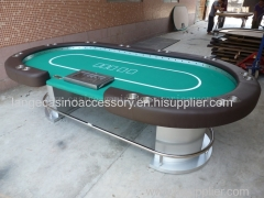 ;Luxury LED Electronic casino Texas Hold'em Table WIth USB AND Button