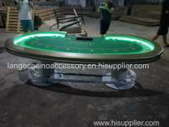 High Quality LED light Poker Table Top Texas Holdem Table With Cup