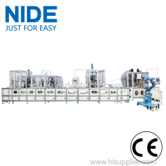Full automatic three phase stator production line with app remote operation