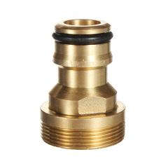"Brass 3/4"" male adapter connector."