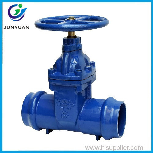 Ductile Iron Double Socket Resilient Seat Gate Valve for PVC Pipe