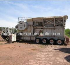 Mobile metso C125 jaw crusher