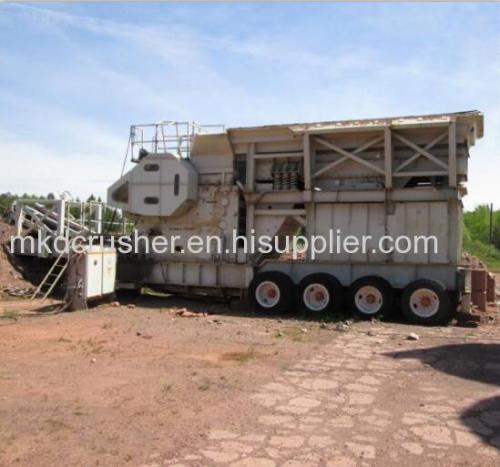 Mobile metso C125 jaw crusher