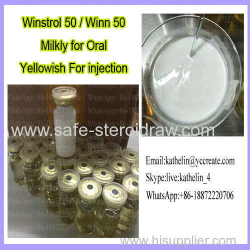 Water Based Oral Win strol 50 Oil Based Injection Winn 50 For Bodybuilding