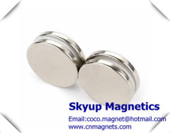 Disc rare earth magnets with Nickel plating used in Loud speakers