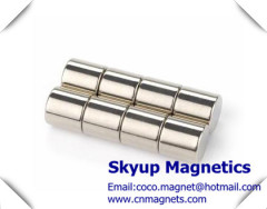 Cylinder Magnets used in electronic products with Nickel plating
