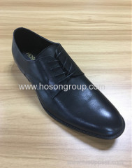 Genuine cowhide leather men lace business shoes