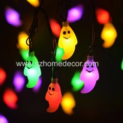 New arrived solar power 30 led Ghost solar led string holiday decoration lights