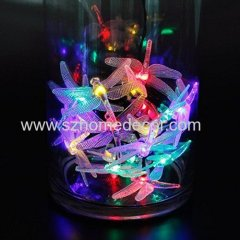 Top selling 30 led Dragonfly string lights party christmas holiday lighting