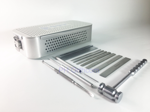 Trochlea Rectangular Sulcoplasty Iustruments Set in Graphic Container for Small Animals Veterinary Orthopedic Surgery