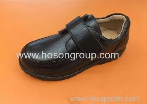 Children round toe velcro school shoes