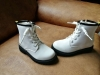 PU round toe gilrs ankle boots