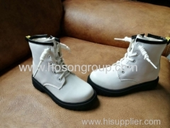 PU round toe children ankle boots