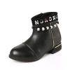 Children zipper ankle boots