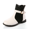 Girls round toe boots with buckle decoration