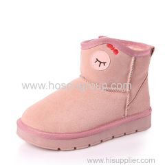 Kids chip on winter snow ankle boots