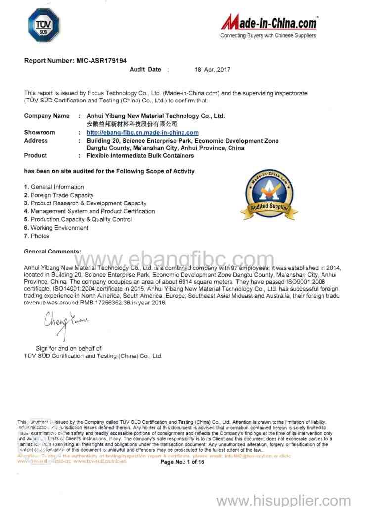 TUV Certificates