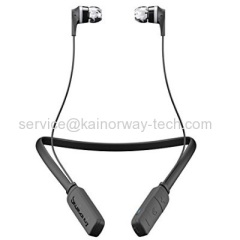 Wholesale SkullCandy Ink'd Black Gray In-Ear Wireless Bluetooth Earphones Earbuds With Microphone