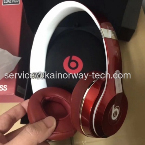 Wholesale Beats Solo2 Wireless Bluetooth On-Ear Headband Headphones Red Luxe Edition