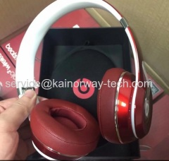 New Beats By Dr.Dre Beats Solo2 Wireless On-Ear Headphones With Bluetooth Luxe Red Special Edition