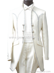 Ivory Casual Men's Suits Tuxedo Suit 4 Piece