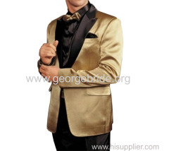 Men's Suits Gold Wedding Party Suits 2 Piece