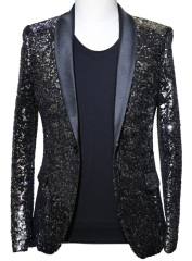 Black Sequins Party Jacket