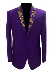 Embroidery Casual Men's Suits