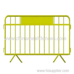 Factory bottom price traffic Steel barriers galvanized temporary construction fence