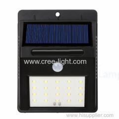 SMD LED Outdoor Solar Powered Waterproof Motion Sensor Wall Light