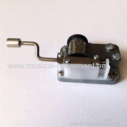 18 NOTE CRANK OPERATED MUSIC BOX MECHANISM