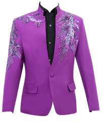 Men's Suit Tuxedos Smoking Suits 1-piece suit jacket with Embroidery