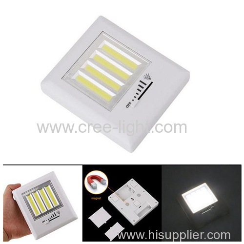 Dimmable Cabinet Wall Wireless 4pcs COB LED Night Light Switch with Magnetic