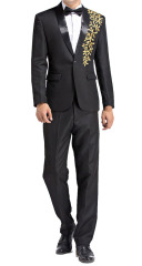 Men Suits Men Suit Jacket with Embroidery