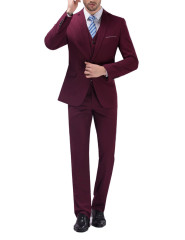Men Suits Simple Slim Fit Casual Suit 3 piece