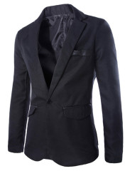 Mens Suit Jacket Simple Casual Business Jacket