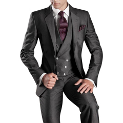 Dark Grey Men's Suits 3 Piece