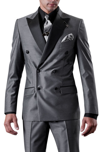 Double Button Casual Retro Men's Suits