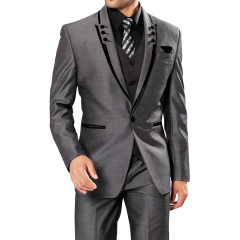 Dark Gray Men's Suit Suits 2 Pieces