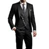 Men's Suits Unique Personality Oblique Button Three-Piece
