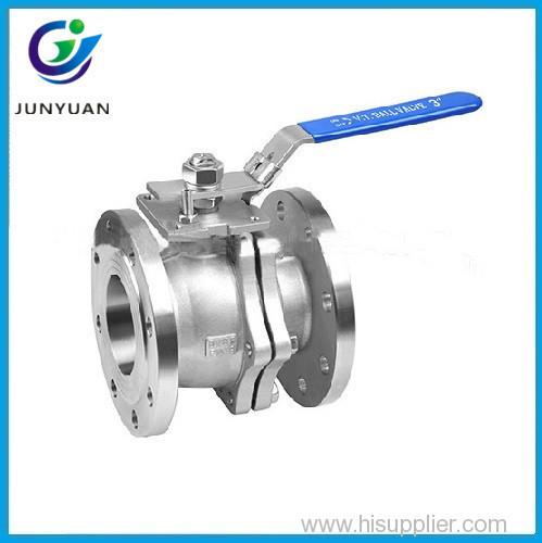 2PC carbon steel full port flanged ball valve ANSI 150lb