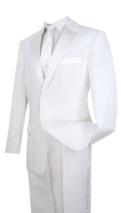 Men's suits white formal suit suit 2 pieces