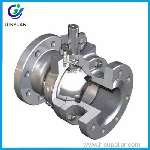 High quality carbon steel full port ansi flanged ball valve