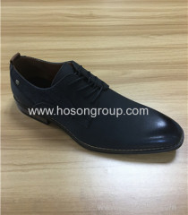 PU / genuine leather men lace business shoes