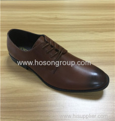 Brown men lace office shoes