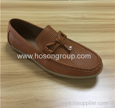 Clip on classic style men casual shoes