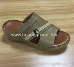Arab style open toe men slippers