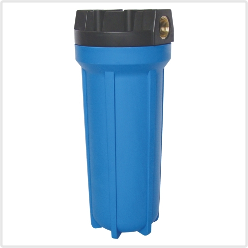 blue water filter housing