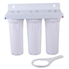 water purifier with three clear housings